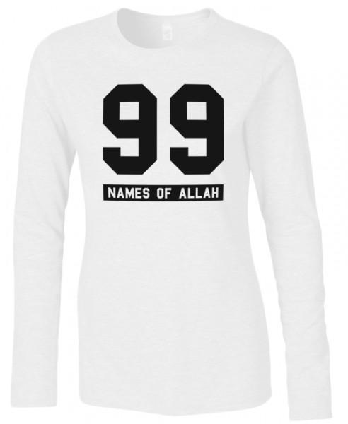 99 Names of Allah Halal-Wear women Langarm Shirt