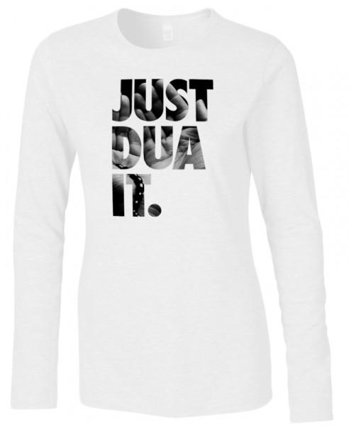 Just Dua IT with Hands Halal-Wear women Langarm T-Shirt