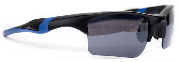 Sportliche Herren Sonnenbrille blauer Rahmen schwarze Linse UV400  #LS6614