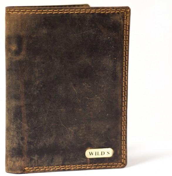 Herren Geldbörse Wild 326 Dunkelbraun Leder Geldbeutel Portemonnaie Brieftasche Portmonee