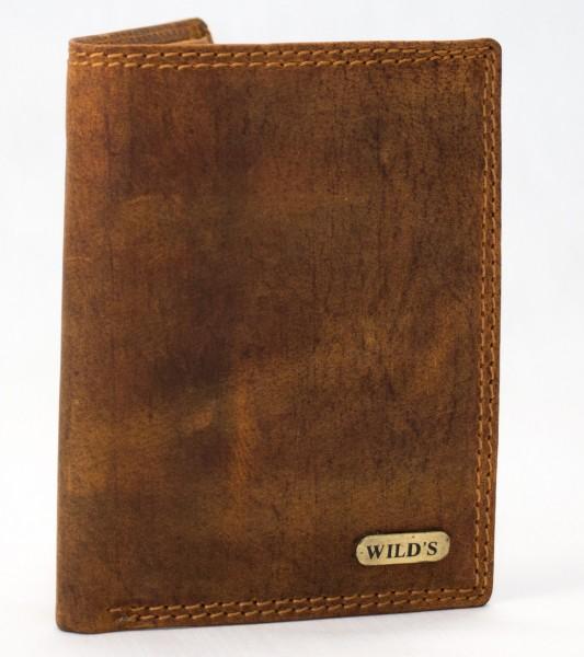 Herren Geldbörse Wild 326 Hellbraun Leder Geldbeutel Portemonnaie Brieftasche Portmonee