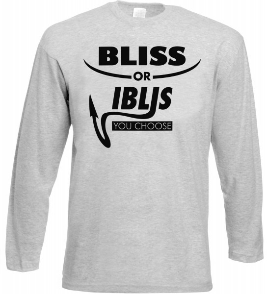 Bliss or Iblis Langarm T-Shirt - Muslim Halal Wear Grey