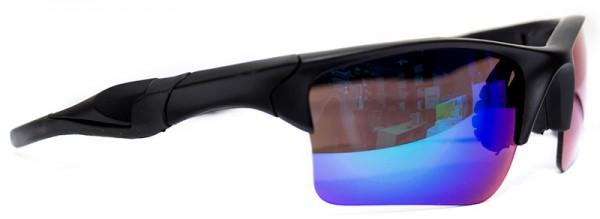 Sportliche Herren Sonnenbrille schwarzer Rahmen lila Linse UV400  #LS6614