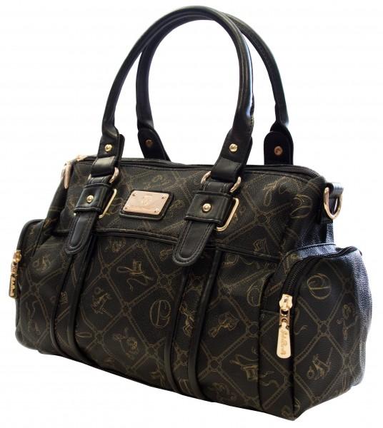 Giulia Pieralli Damentasche Umhängetasche Handtasche Nero 26119E