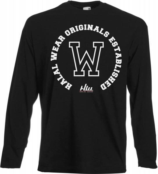 HALAL Wear Original Established Langarm T-Shirt - Muslim Halal Wear Black