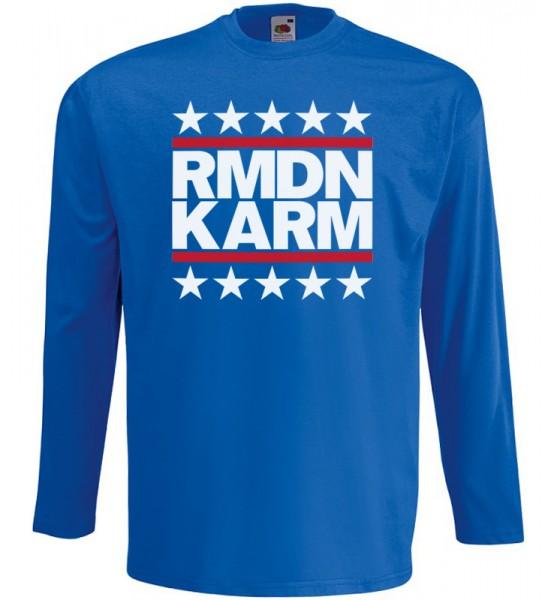 Ramadan Kareem Stars Langarm T-Shirt Halal Wear Blau