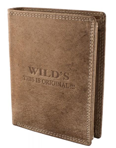 Herren Leder Geldbörse W01 Dunkelbraun Geldbeutel Portemonnaie Brieftasche Portmonee