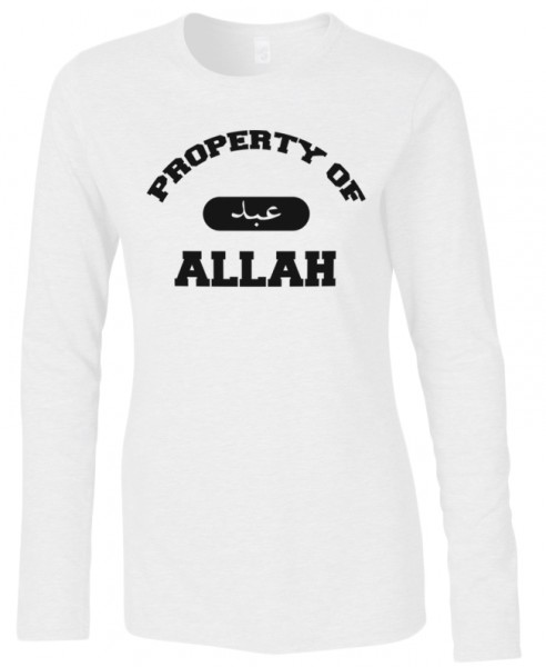Property of Allah Halal-Wear women Langarm T-Shirt