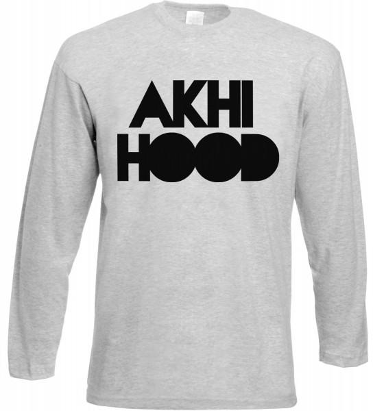 Akhi Hood Langarm T-Shirt - Muslim Halal Wear Grey