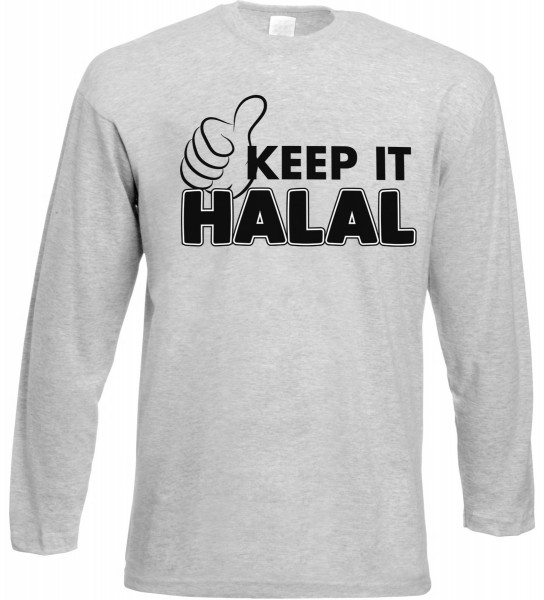 Keep it Halal Langarm T-Shirt - Muslim Halal Wear Grey