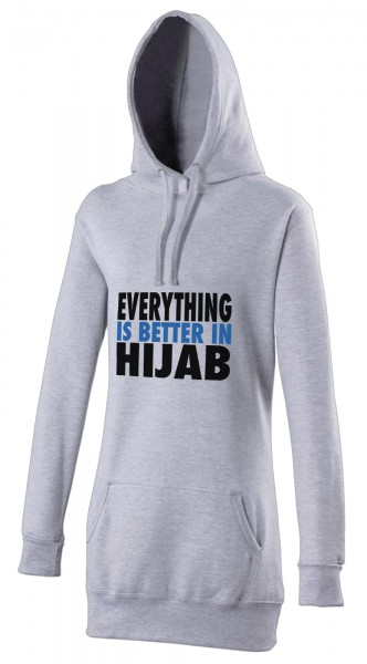 Everything is better in Hijab Blue Halal-Wear women's Hijab hoodie