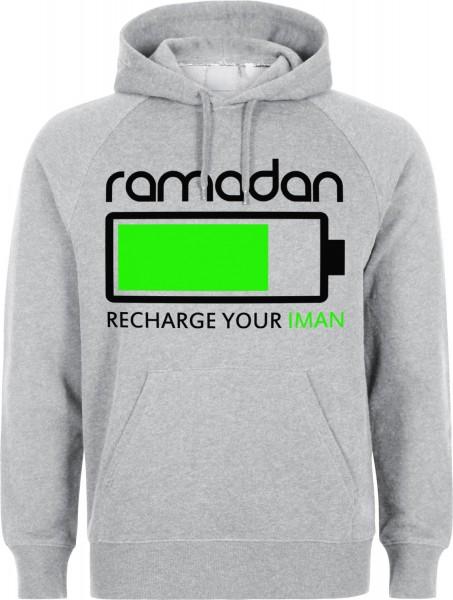 Ramadan Recharge your Iman Halal-Wear Kapuzenpullover Sweatshirt Hoody