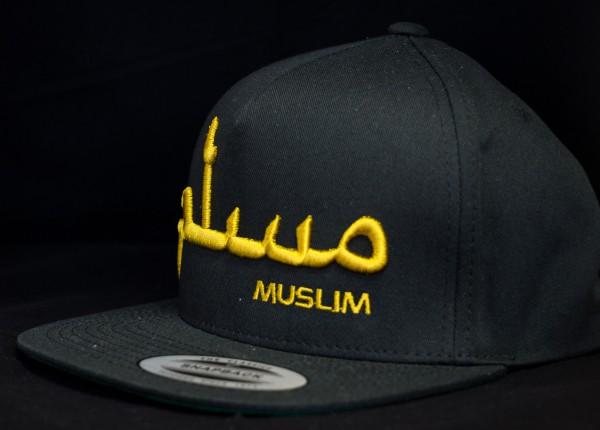 MUSLIM Snapback Black 3D Gold Edition