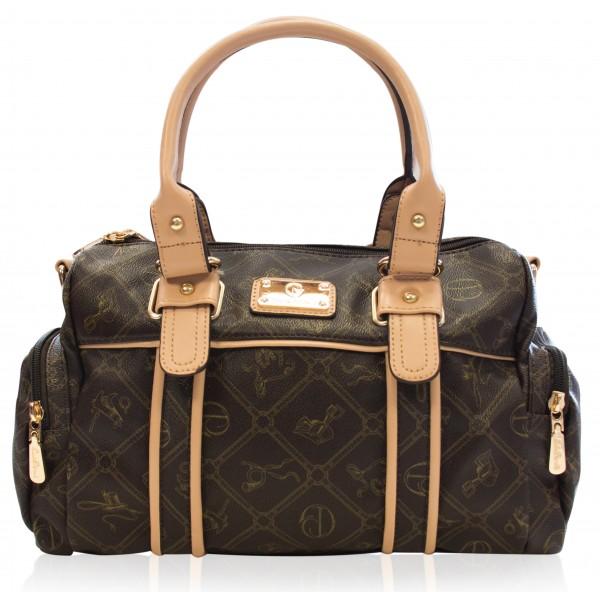 Giulia Pieralli Damentasche Umhängetasche Handtasche Braun 26119E