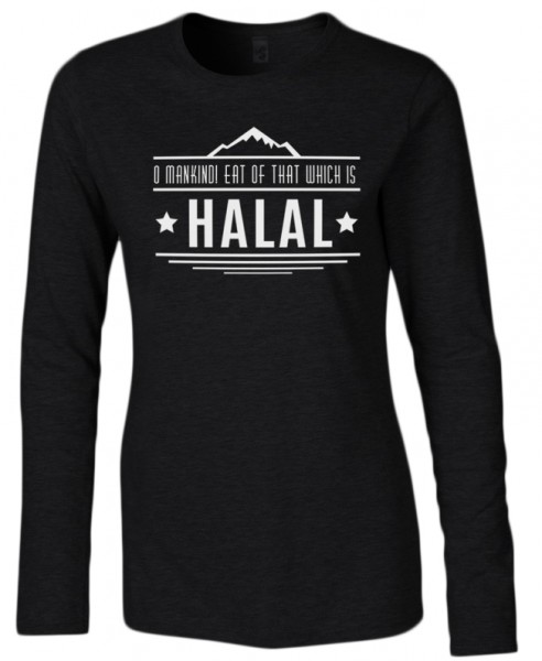 O Mankind! Eat of that which is HALAL Halal-Wear Women Langarm Shirt