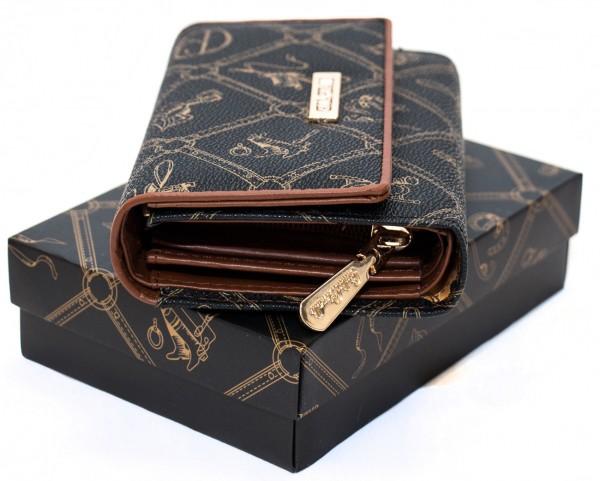Giulia Pieralli Damen Geldbörse G002 Marrone Frauen Portemonnaie Geldtasche