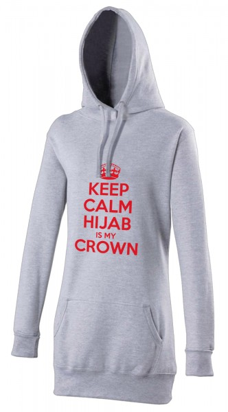 CEEP CALM Hijab is my crown red Halal-Wear women's Hijab hoodie