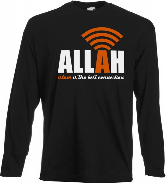 ALLAH Islam is the best connection Langarm T-Shirt - Muslim Halal Wear