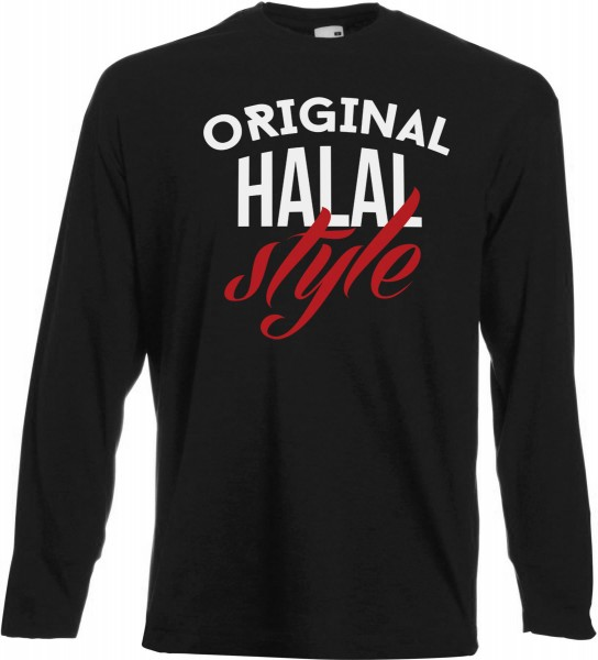 Original Halal Style Langarm T-Shirt - Muslim Halal Wear Black