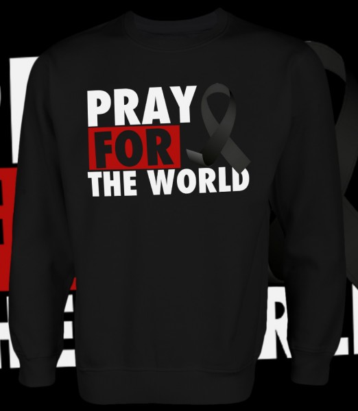 Pray for the World Pullover Black Schwarz