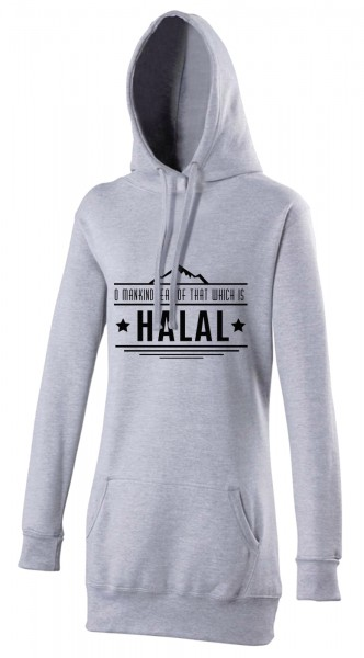 O Mankind eat of that which is HALAL  Wear women's Hijab hoodie