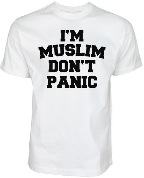 i'm muslim don't panic T-shirt