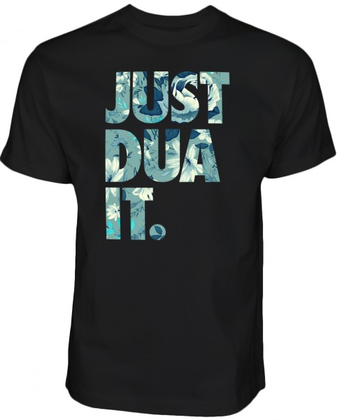 Just Dua IT Flowers Blue HALAL Wear T-Shirt